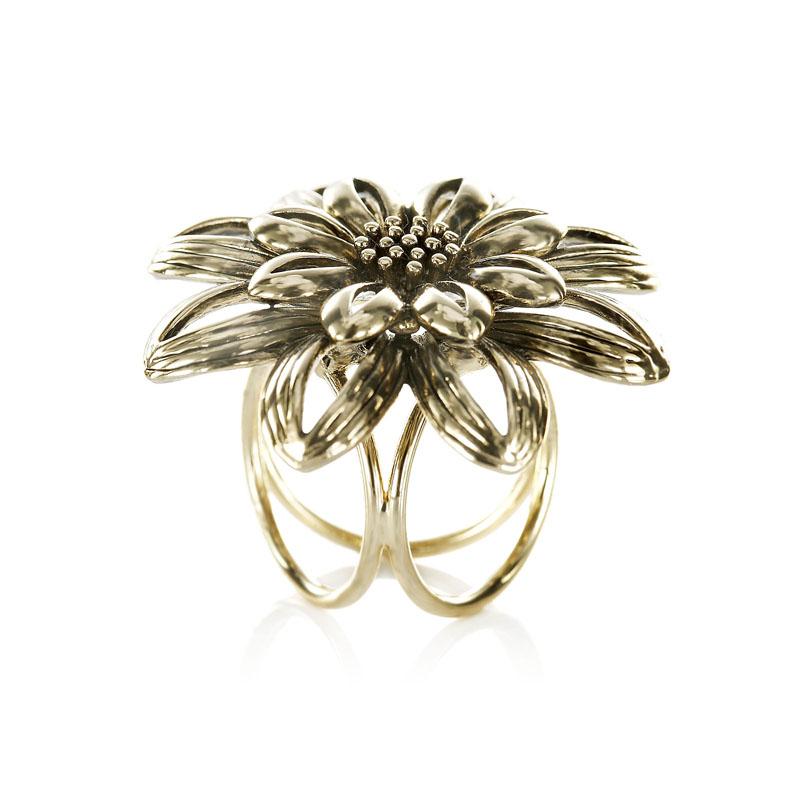 fa5bc0eaf Kvetinový prstenec - ozdoba pre šatky a šále