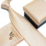 Luxusný kravatový set v bežovej farbe