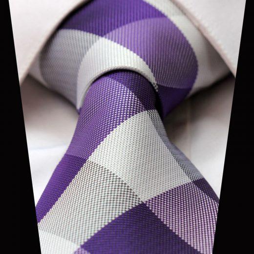 Elegantná sada - hodvábna kravata s vreckovkou - vzor12
