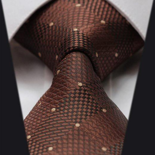 Elegantná sada - hodvábna kravata s vreckovkou - vzor13