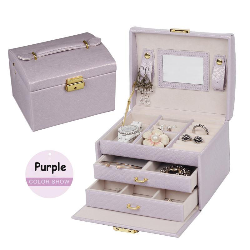 Luxusná dámska šperkovnica, kufrík na drogériu v koži
