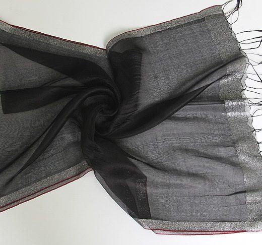 Elegantný ľahký dámsky hodvábny šál - vzor 05