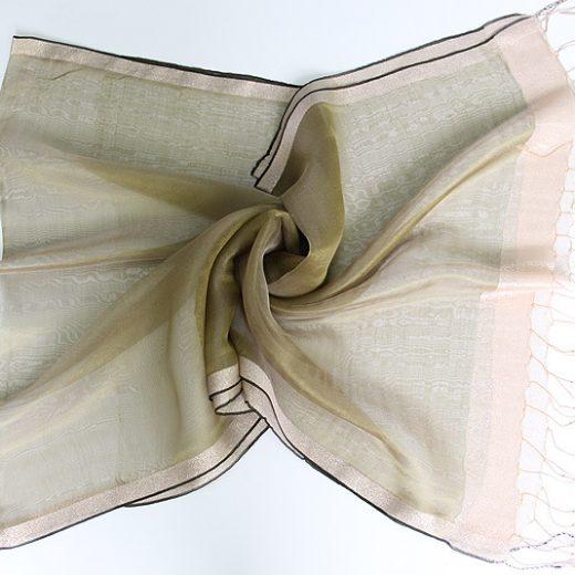 Elegantný ľahký dámsky hodvábny šál - vzor 06