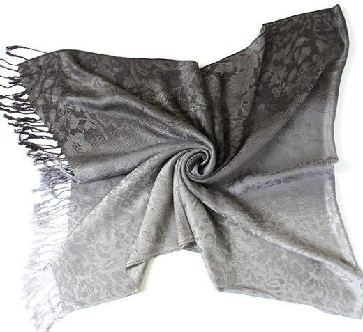 Luxusný ručne tkaný kašmírový šál s prímesou hodvábu - vzor03