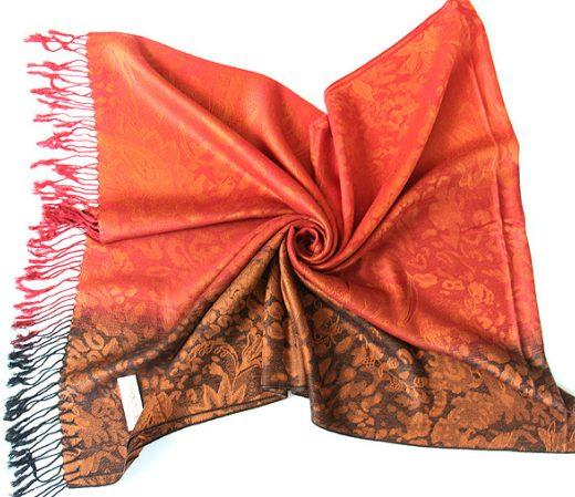 Luxusný ručne tkaný kašmírový šál s prímesou hodvábu - vzor06