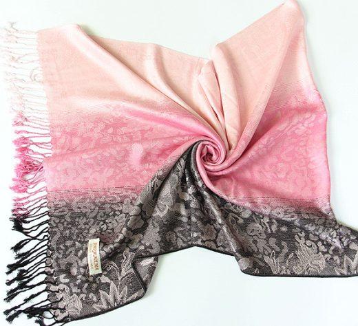 Luxusný ručne tkaný kašmírový šál s prímesou hodvábu - vzor11