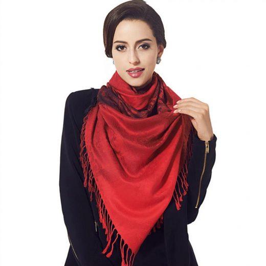 Luxusný ručne tkaný kašmírový šál s prímesou hodvábu - vzor05