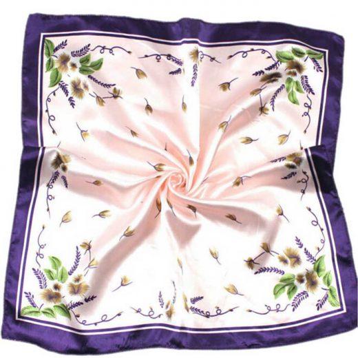 Kvalitná malá dámska šatka vo fialovo - ružovej farbe