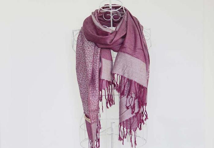 Luxusný ručne tkaný kašmírový šál s prímesou