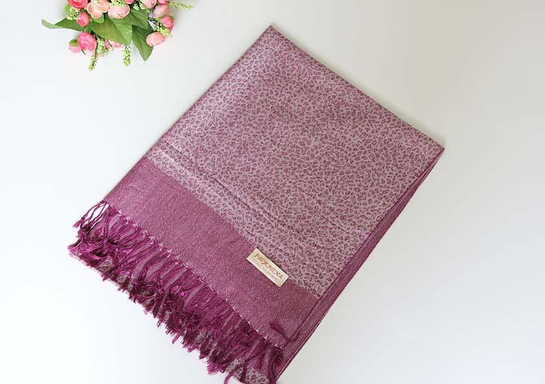 Luxusný ručne tkaný kašmírový šál s prímesou pomarančový