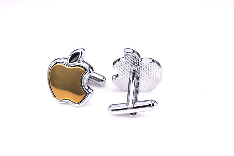 Luxusné manžetové gombíky v zlatej farbe so znakom Apple