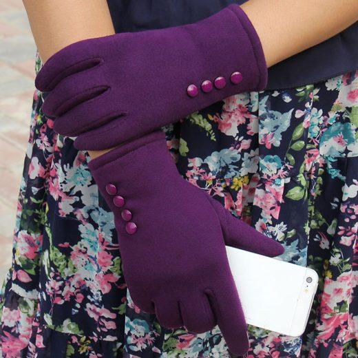 Dámske bavlnené rukavice s možnosťou ovládať mobilný telefón