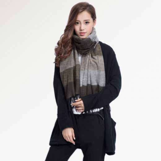 Kvalitný ručne tkaný kašmírový a bavlnený šál - model 04