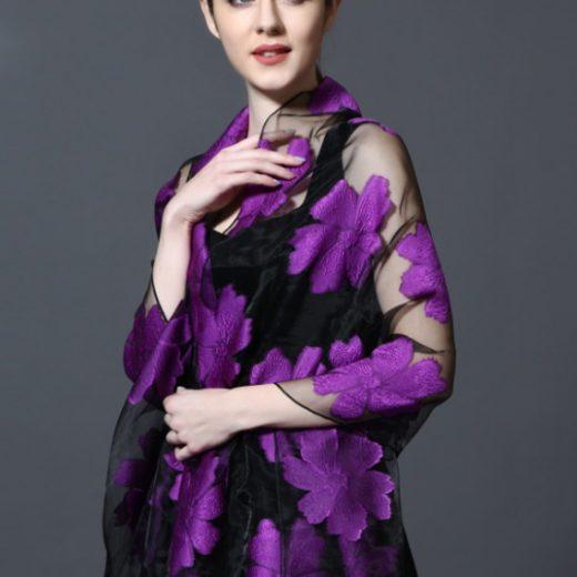 Elegantný šál hodvábu a viskózy 185 x 70 cm - rôzne farby