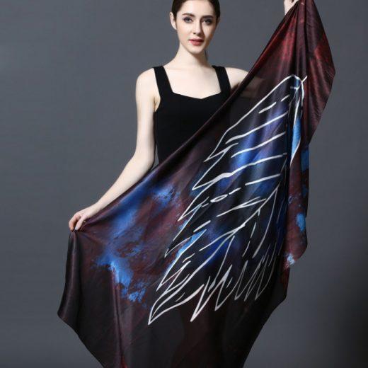 Elegantný šál zo 100% hodvábu 185 x 90 cm - leaf_04