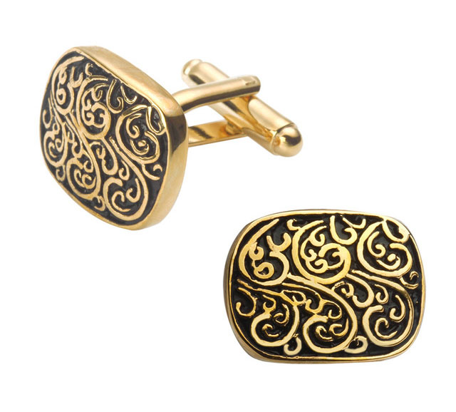 2bd5bad39610 Luxusné zlato-čierne manžetové gombíky