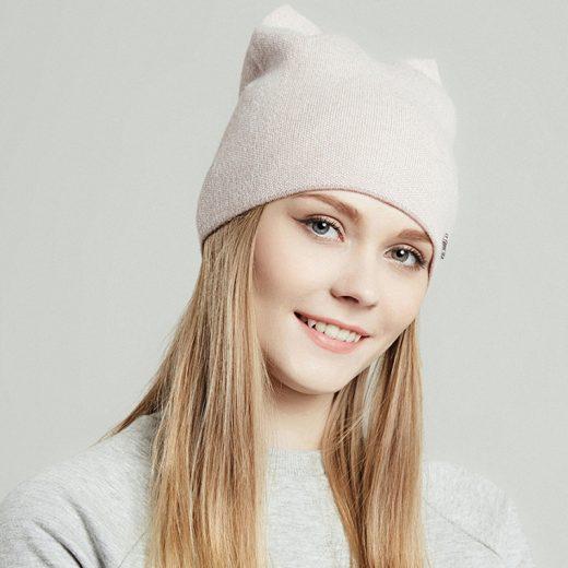 Štýlová dámska čiapka z bavlny a vlny vo farbách