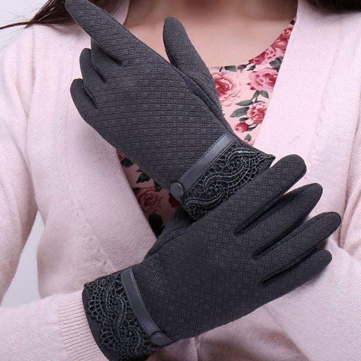 Štýlové dámske rukavice na mobilný telefón