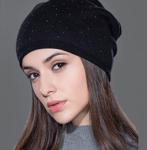 Dámska čiapka z bavlny a kašmíru v rôznych farbách