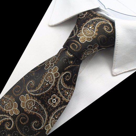 Hodvábny kravatový set - kravata + manžety + vreckovka - vzor01