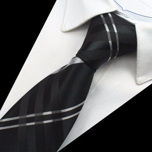 Hodvábny kravatový set - kravata + manžety + vreckovka - vzor04