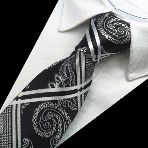 Hodvábny kravatový set - kravata + manžety + vreckovka - vzor05