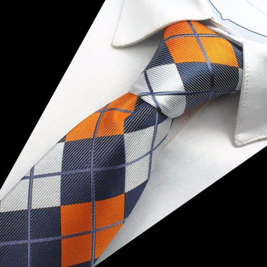 Hodvábny kravatový set - kravata + manžety + vreckovka - vzor07