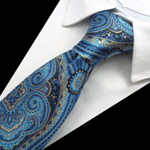 Hodvábny kravatový set - kravata + manžety + vreckovka - vzor09