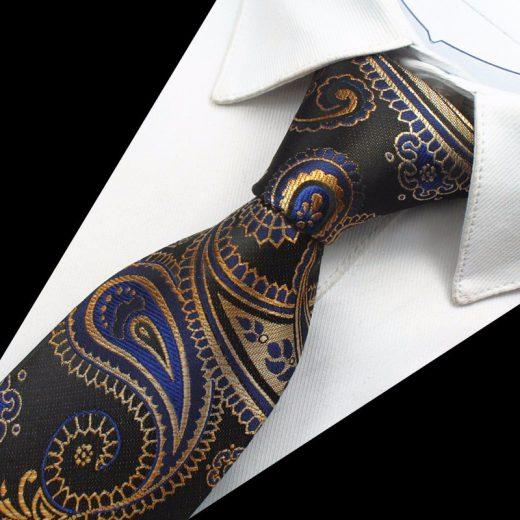 Hodvábny kravatový set - kravata + manžety + vreckovka - vzor02
