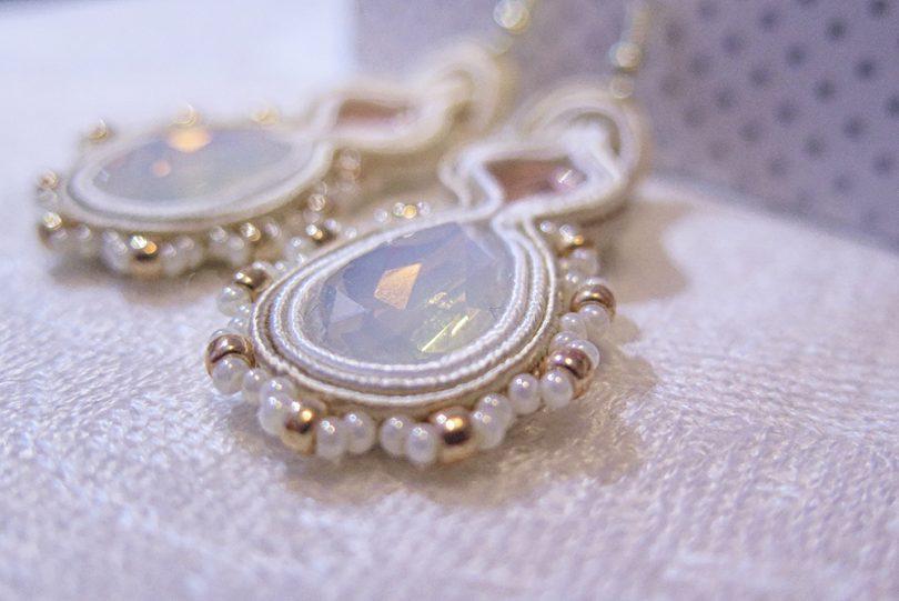 Ručne vyrobené sujtáš náušnice Tessie - Gold Treasure