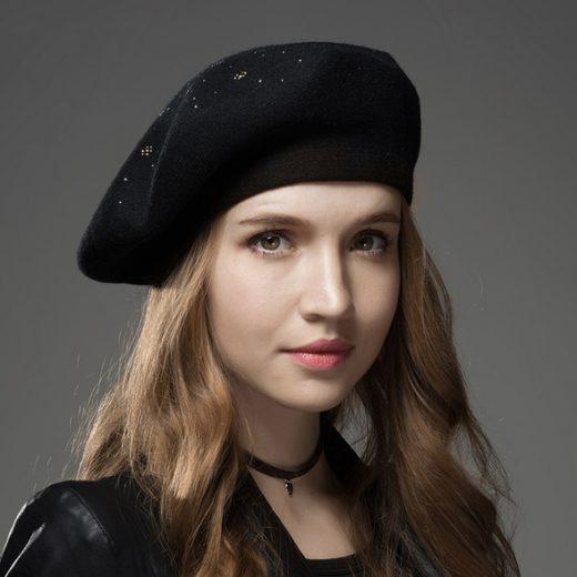 Dámska baretka / baret z kašmíru- rôzne farby
