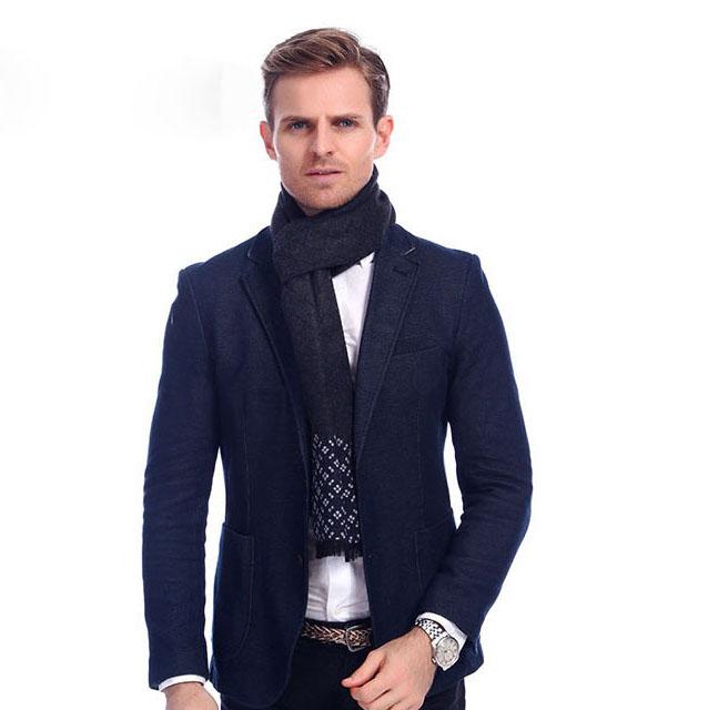 Elegantný šál pre mužov v rôznych farbách