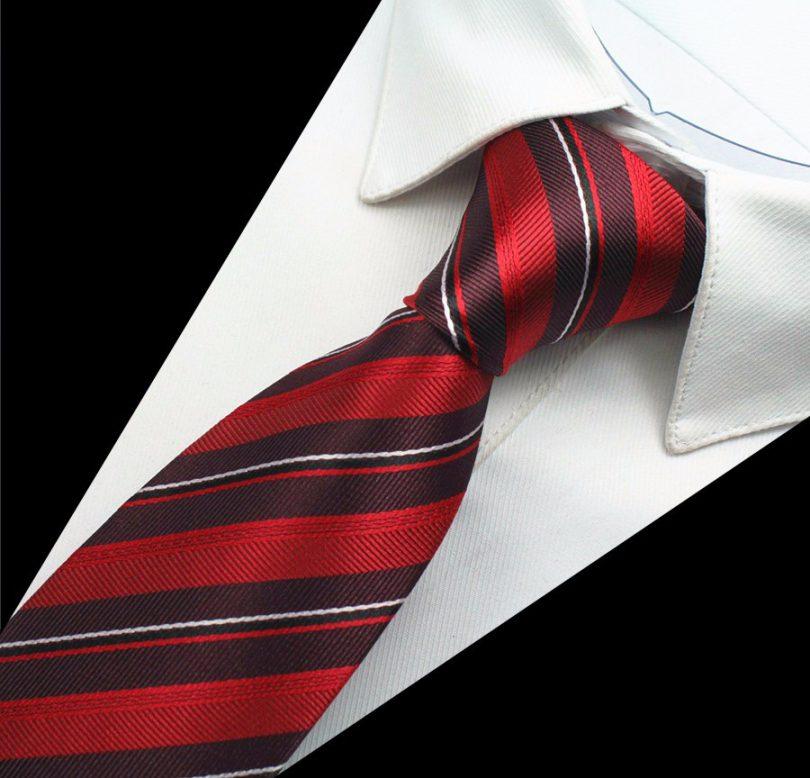 Hodvábny kravatový set - kravata + manžety + vreckovka - vzor10