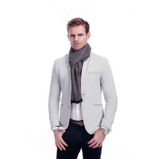 Kvalitný elegantný šál pre pánov v rôznych farbách