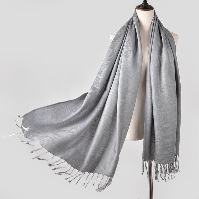 Luxusná bavlnená šatka so vzorom pre dámy v rôznych farbách