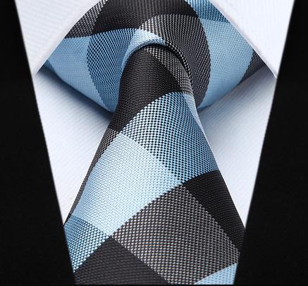 Elegantná pánska sada - kravata + vreckovka - č.4