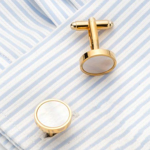 Elegantné manžetové gombíky v zlatej farbe