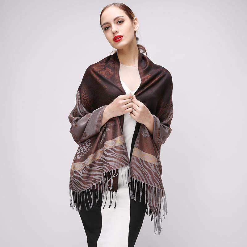 Elegantný dámsky šál z bavlny, 175 cm x 68 cm