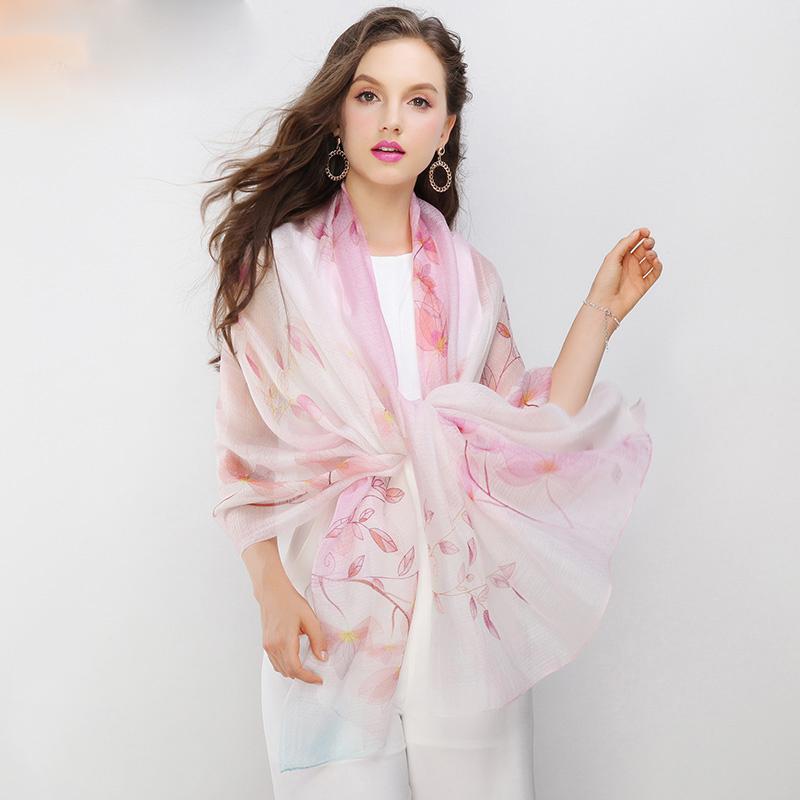 Luxusný dámsky šál s jednoduchým vzorom, rozmer 200 cm x 95 cm, č.1