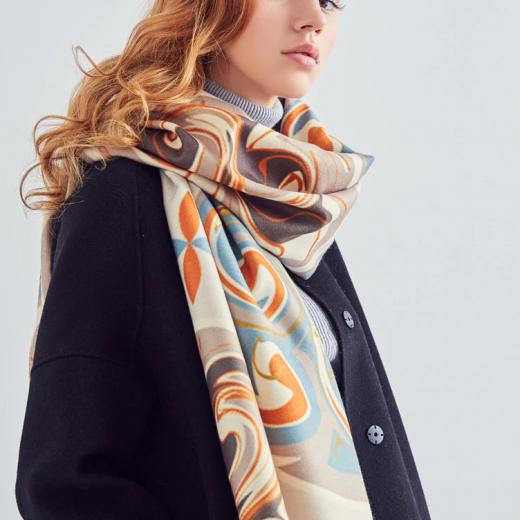 Kvalitný ručne tkaný kašmírový šál s moderným vzorom 11188b6c72