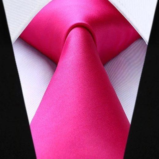 Hodvábna kravatová sada - kravata a vreckovka v ružovej farbe