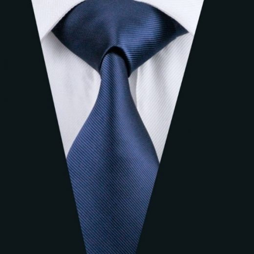 Elegantná sada kravaty + manžetové gombíky + vreckovka v tmavo modrej farbe