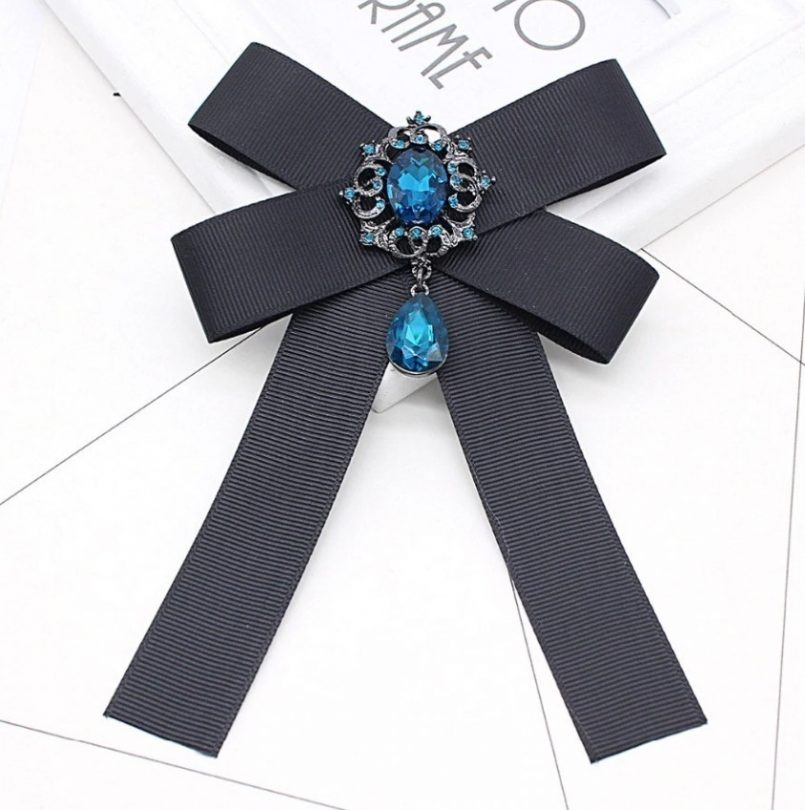 Vintage brošňa na golier so šperkom vo viacerých variantoch