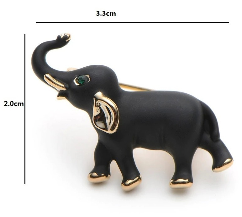 Elegantná smaltovaná brošňa - sloník pre šťastie