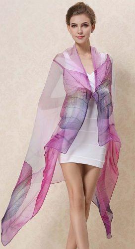 Hodvábny šál, luxusný šál, dámsky šál